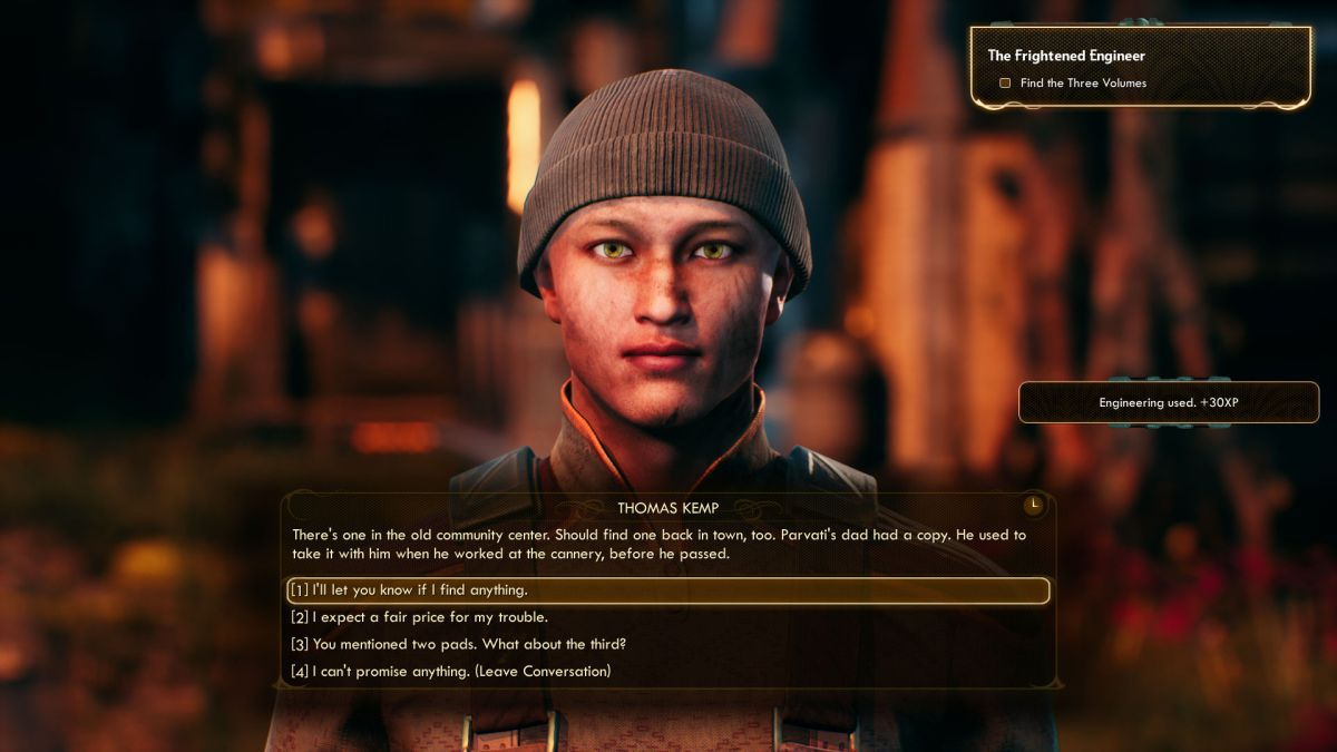 The Outer Worlds The Frightened Engineer guide: where to find all volumes for The Frightened Engineer