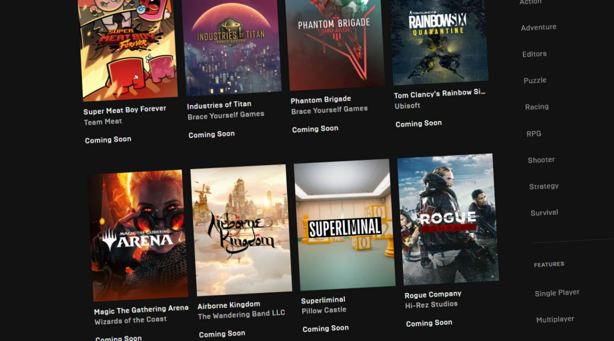 Epic Games Store is adding Open Critic reviews and wishlisting