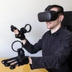 This Oculus Quest-compatible haptic glove looks like something out of the 80s