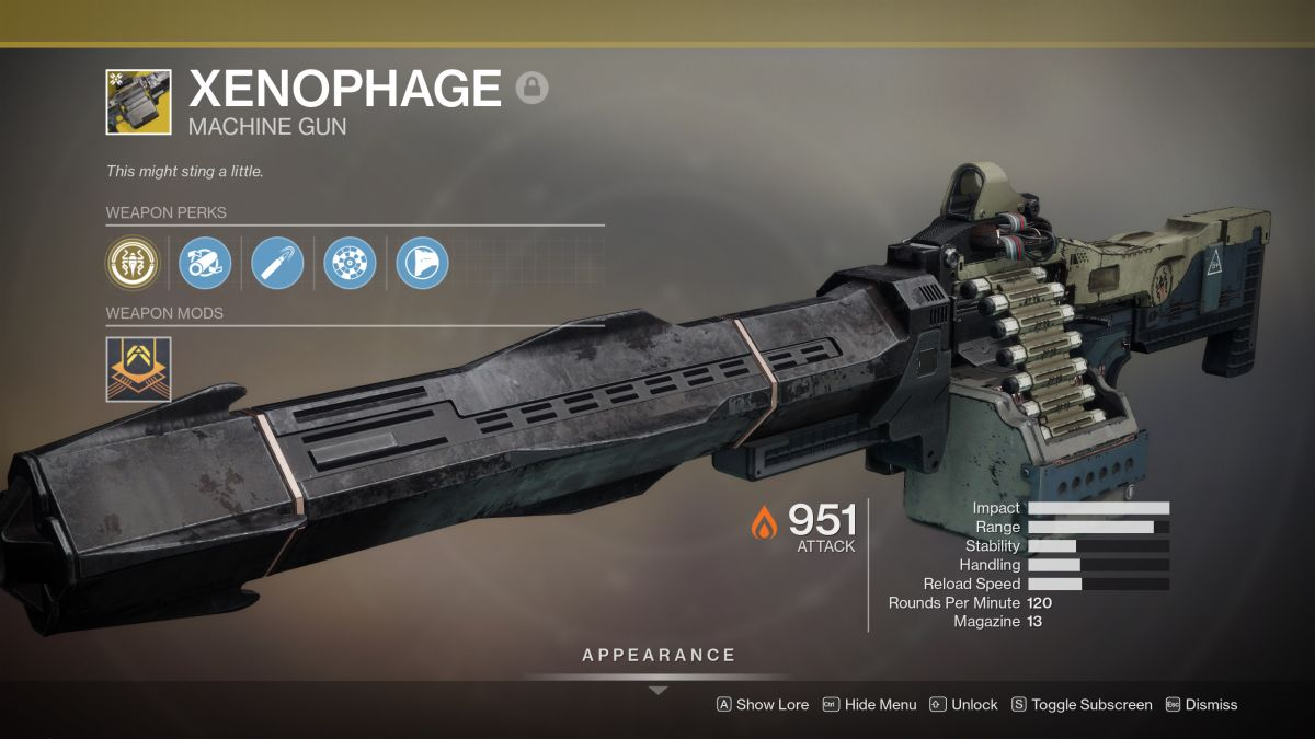 Destiny 2: how to get the Xenophage exotic machine gun
