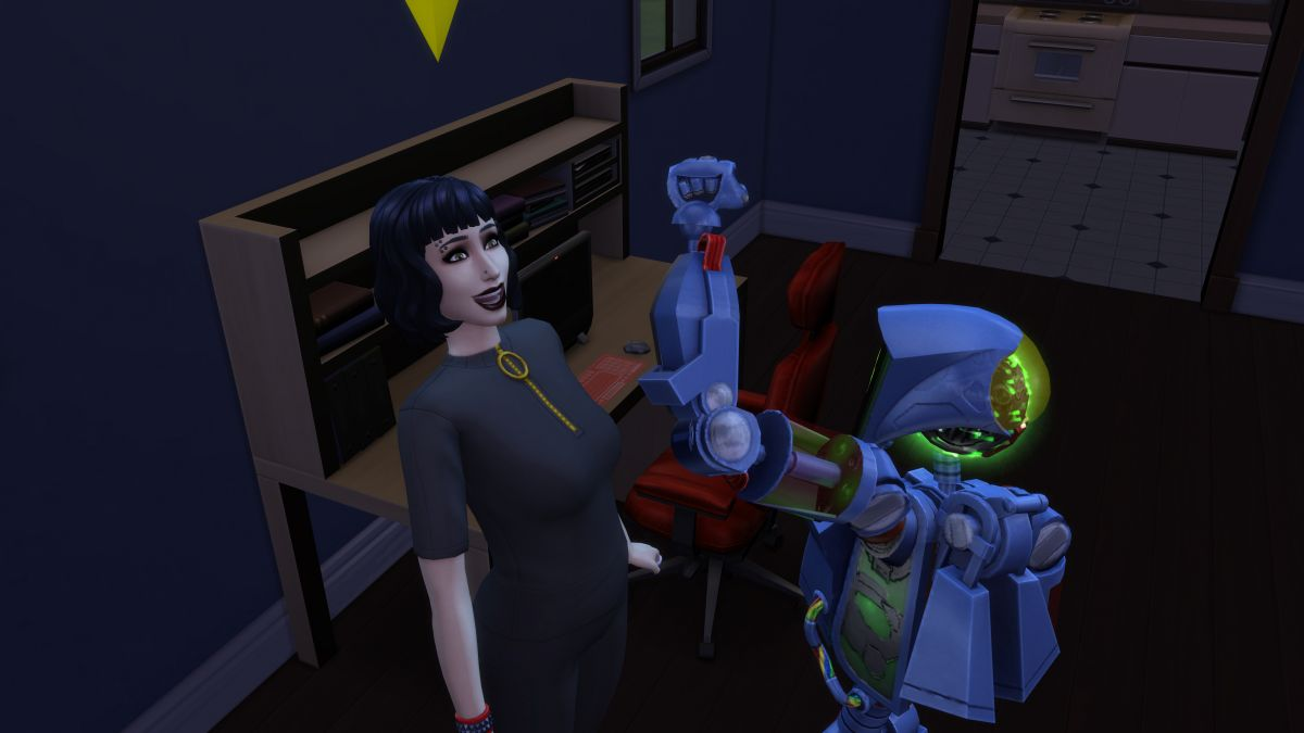 I pierced my face and banged a robot in The Sims 4 Discover University