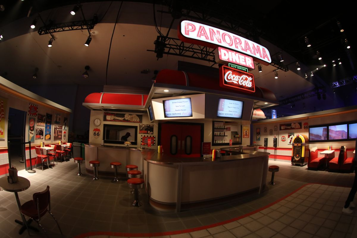 Overwatch's roadside diner was meticulously recreated at BlizzCon, complete with apple pie
